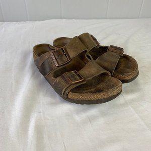 Birkenstock | Size 7. Brown Leather Sandals
